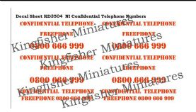 NI Confidential Phone Numbers - Red Type 2